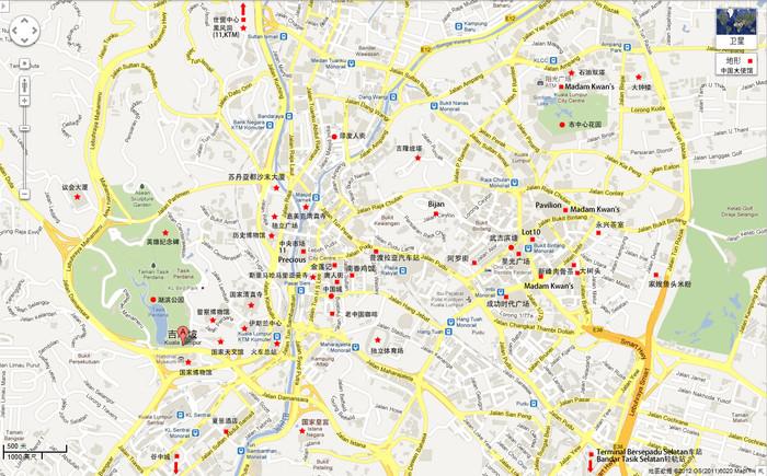 马来西亚吉隆坡 马六甲 槟城 兰卡威google地图中文标注 碰巧 十六番图片