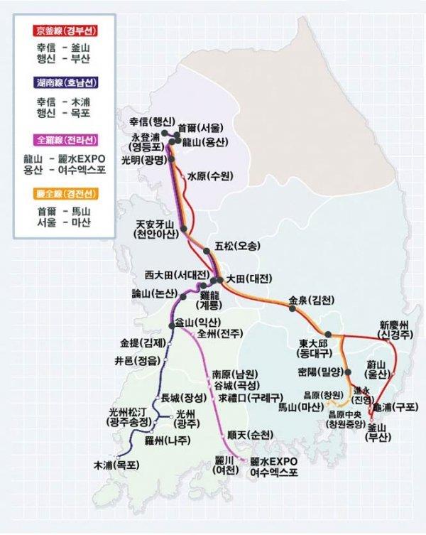 2018 韩国首尔火车攻略(首尔火车路线图/首尔火车订票